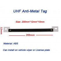 Long range Anti-metal UHF Tag  Vehicle tag Aluminum installation bracket and screw hole