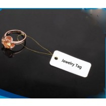 Small Round Custom Printed RFID Jewelry Paper Tag SJ520 For Jewelry Inventory
