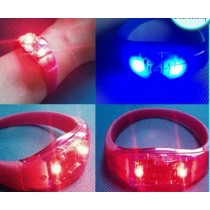 Custom Printing PVC Music Activated Lighting LED SW543  Wristband Flashing Light