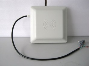 5-6m long range UHF RFID card reader with RS232/RS485/Wiegand data interface, 8dbi Antenna