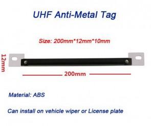 Long range Anti-metal UHF Tag  Vehicle tag Aluminum installation bracket and screw hole