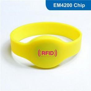 RFID sauna bath hand fitness Waterproof RFID Silicone wristband Bracelet 125khz EM4200 chip