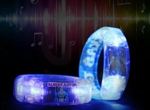 Hot New Products Radio Control Return Gifts for Birthday Logo Custom SW520 Rfid  Led Wristband